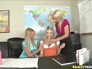 Ashley Roberts, Bree Daniels and Sammie Rhodes